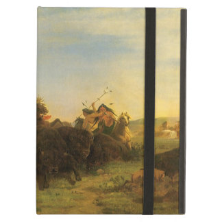Vintage American West Art, Buffalo Hunt by Wimar iPad Air Covers