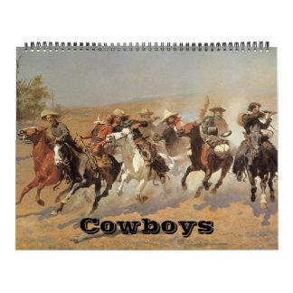 Vintage American West Cowboys, Western Fine Art Wall Calendars