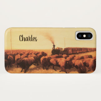 Vintage American West, Held Up by NH Trotter iPhone X Case