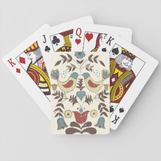 Vintage Amish Country Birds Playing Cards