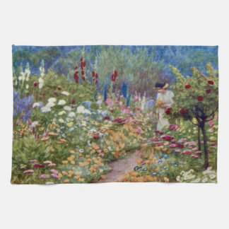 Vintage An English Country Garden Kitchen Towel