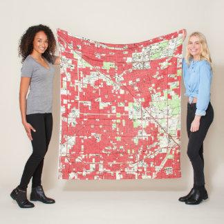 Vintage Anaheim & Garden Grove CA Map (1952) 3 Fleece Blanket