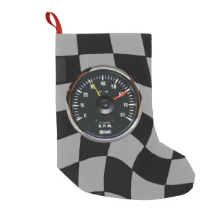 Vintage Analog Auto Tachometer Racing Small Christmas Stocking