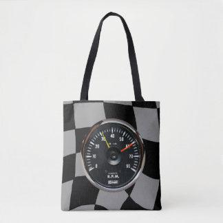 Vintage Analog Auto Tachometer Racing Tote Bag
