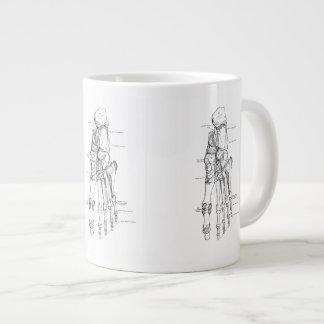 Vintage Anatomy Art Bones of the Foot Large Coffee Mug