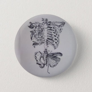 Vintage Anatomy Drawing Rib cage Skeleton 2 Inch Round Button
