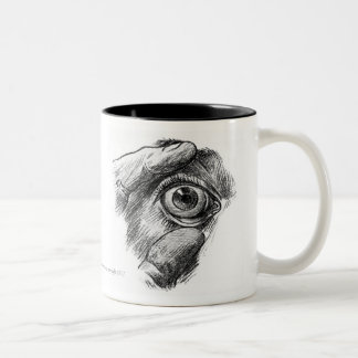 Vintage - Anatomy - Eyeball Two-Tone Coffee Mug