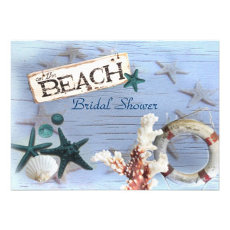 vintage anchor beach wedding bridal shower personalized invites