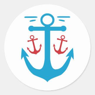 Vintage Anchor Classic Round Sticker