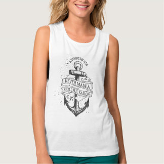 Vintage Anchor Design With Lettering Women's Shirt