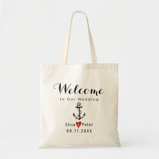 Vintage anchor destination wedding script welcome