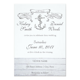 Vintage Anchor Nautical | Wedding Invitation