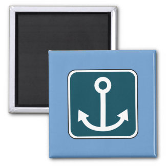 Vintage Anchor Sign Square Magnet