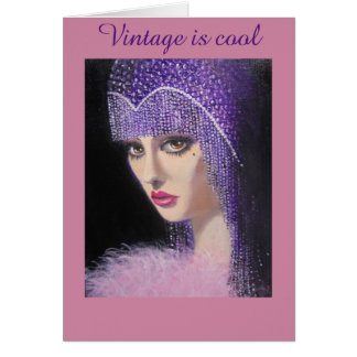 Vintage and Cool Lady, Birthday Card