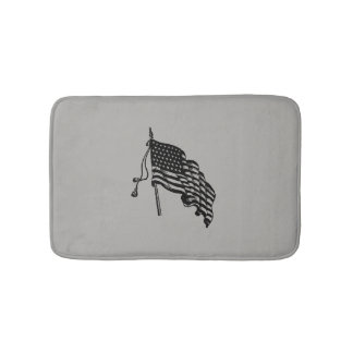 Vintage and Retro American Flag Bath Mats