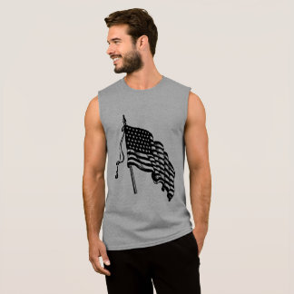 Vintage and Retro American Flag Men's Tank Top