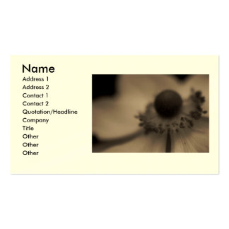 Vintage Anemone Business & Profile Cards Business Card