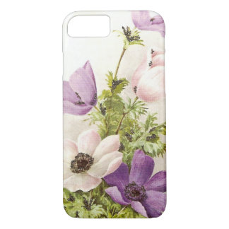 Vintage Anemone Flowers iPhone 7 Case