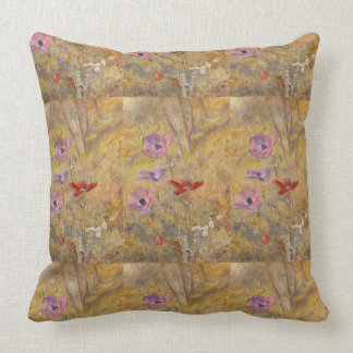 Vintage Anemones Henry Roderick Newman Throw Pillow