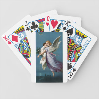 Vintage Angel And Child Illustration Bicycle Playing Cards