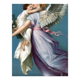 Vintage Angel And Child Illustration Letterhead