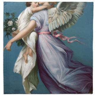 Vintage Angel And Child Illustration Napkin