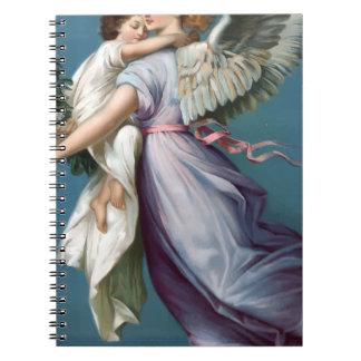 Vintage Angel And Child Illustration Notebook