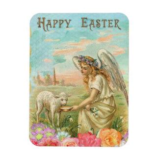 Vintage Angel And Lamb Rectangular Photo Magnet