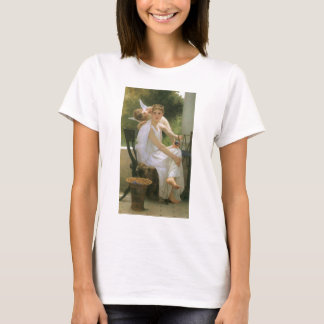 Vintage Angel Art, Work Interrupted by Bouguereau T-Shirt