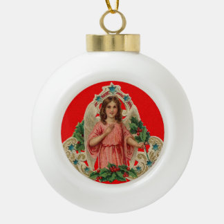 Vintage Angel Ceramic Ball Christmas Ornament