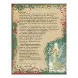 Vintage Angel Christmas Letter Custom Letterhead