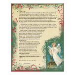 Vintage Angel Christmas Letter Personalized Letterhead