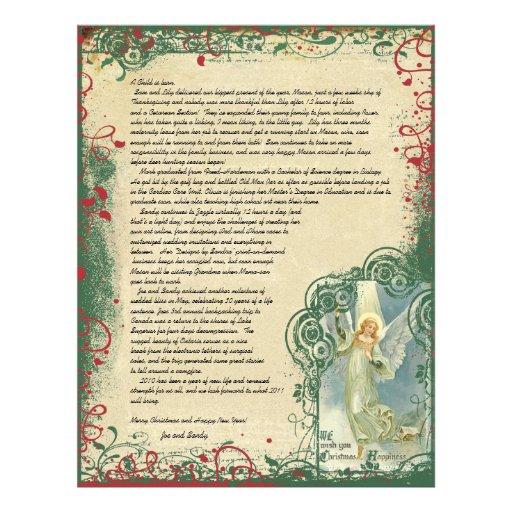 Vintage Angel Christmas Letter Letterhead Design