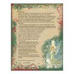 Vintage Angel Christmas Letter Letterhead Template
