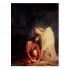 Vintage Angel Comforting Jesus Postcard