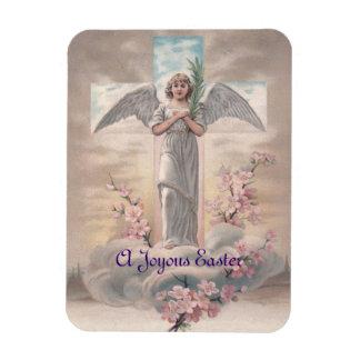 Vintage Angel & Cross Easter Magnet