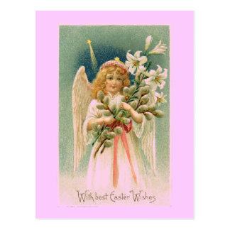 Vintage Angel Easter Postcard