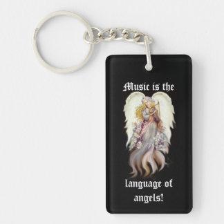 Vintage Angel Music Keychain