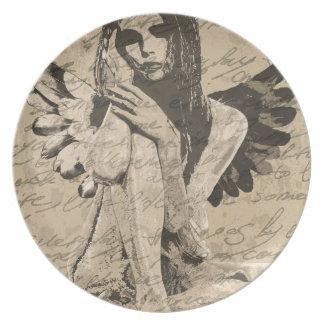 Vintage angel plate