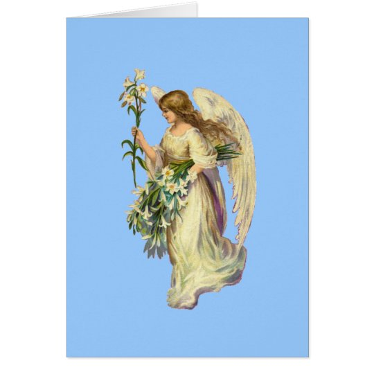 Vintage Angel Prayer Note Card