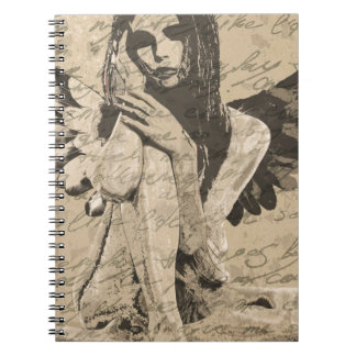 Vintage angel spiral notebook