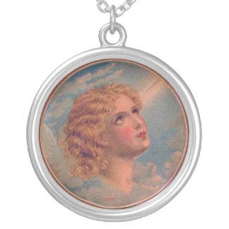 Vintage Angel Sterling Silver Necklace