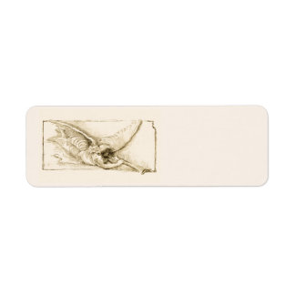 Vintage Angel With Trumpet Monotone Return Address Label