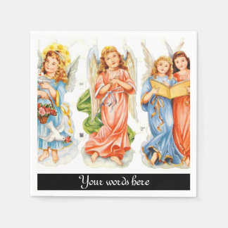 Vintage Angels add words paper napkins