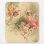 vintage angels mouse pad