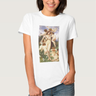 Vintage Angels, Return of Spring by Bouguereau Tee Shirt