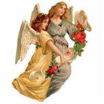 Vintage Angels & Roses Christmas Ornament