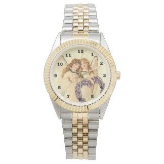 Vintage Angels two tone wrist watch