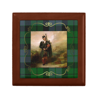 Vintage Angus MacKay Painting Plaid Tile Box
