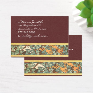 Vintage Animal Hunting Dog and Rabbits  Print Business Card
